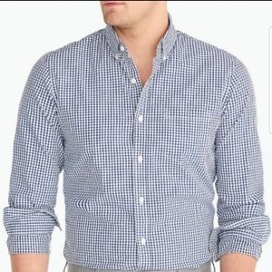 J.Crew Blue and White Button Up | S